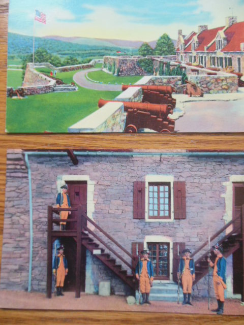 Image for South Platform & Ethan Allen Staircase Fort Ticonderoga Color Postcards (2)