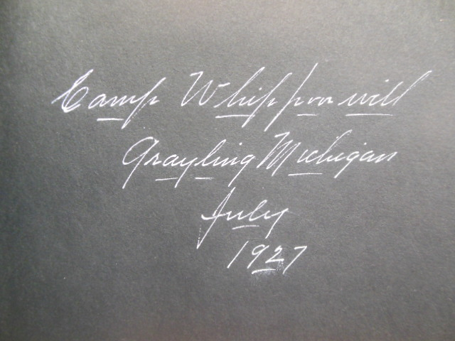 Image for Photograph Album Camp Whipporwill Grayling,Michigan 1927