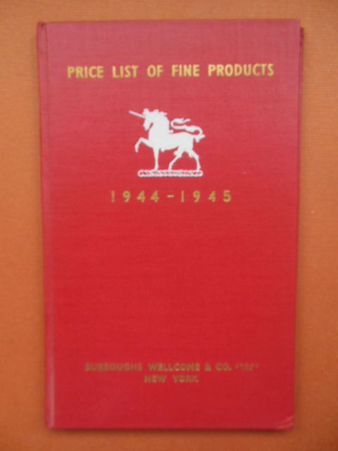 Image for Burroughs Wellcome & Company Price List of Fine Products 1944-1945 (pharmaceuticals)
