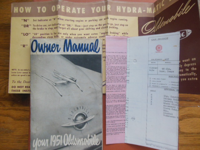 Image for Owner Manual Your 1951   Oldsmobile(Related ephemera Laid-in)