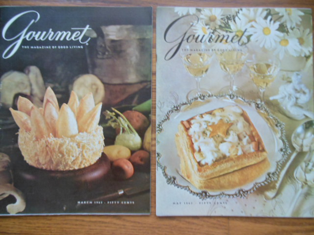 Gourmet Magazine (2 issues, March & May, 1962)