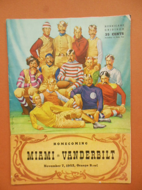 Image for Homecoming Miami vs.Vanderbilt November 7,1952 Orange Bowl (football program)