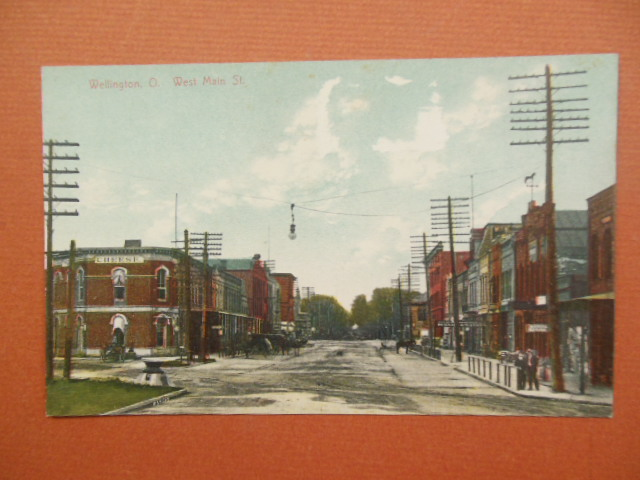 Image for Postcard Wellington, Ohio West Main Street