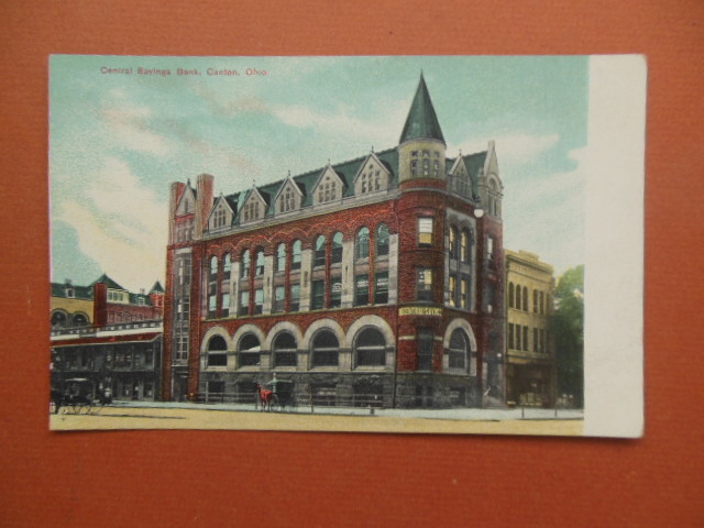 Image for Central Savings Bank Canton, Ohio Postcard