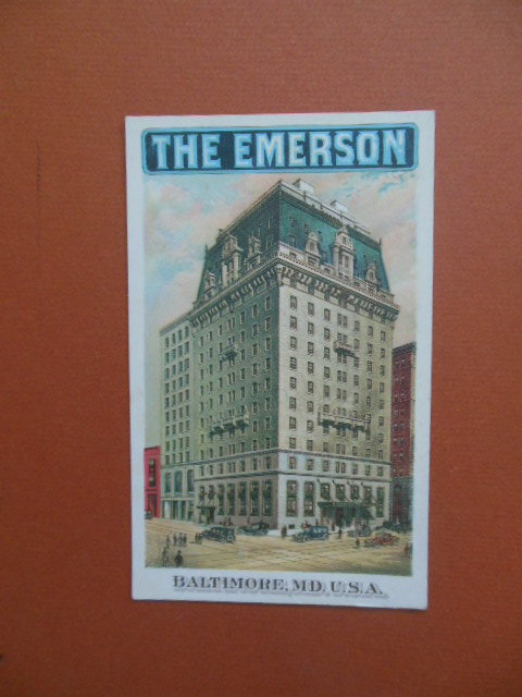 Image for The Emerson Hotel, Baltimore Maryland Postcard