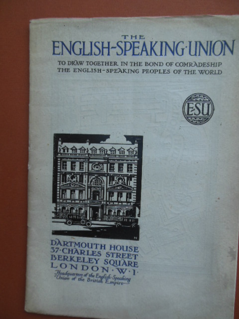 Image for The English-Speaking Union Dartmouth House London 1926 Brochure