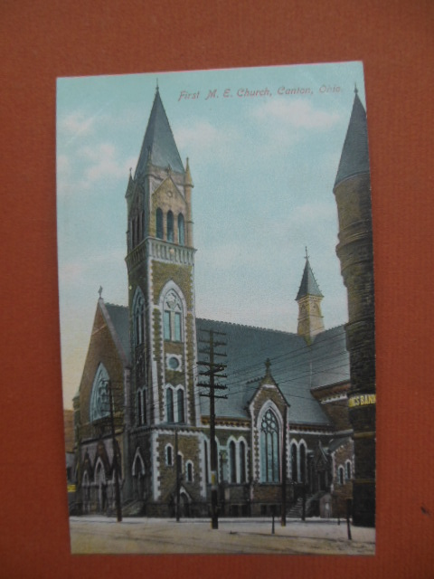 Image for Postcard First M.E. Church Canton, Ohio (Methodist Episcopal)