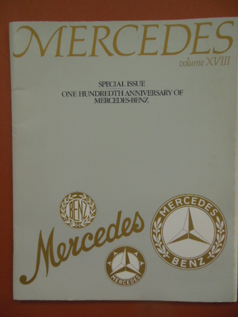 Image for Mercedes Volume XVIII Special Issue One Hundredth Anniversary of Mercedes-Benz (Includes Original Letter)