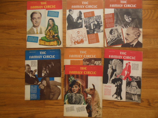 Image for The Family Circle Magazine 7 Issues 1938
