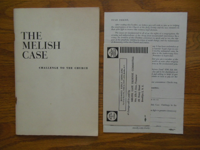 Image for The Melish Case; Challenge to the Church (Episcopal church 1950's Extra Ephemera Laid-in)