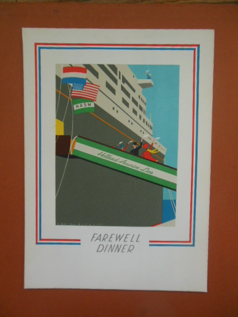 Image for Holland-Amsterdam Line Farewell Dinner Menu (S.S. Nieuw Amsterdam Sunday, May 31, 1970)