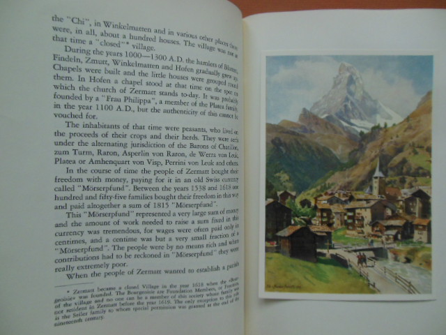Image for A Pocket History of Zermatt (Matterhorn Village Four Tipped-in Color Postcards)