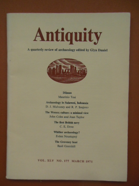 Image for Antiquity; A Quarterly Review of Archaeology March, 1971