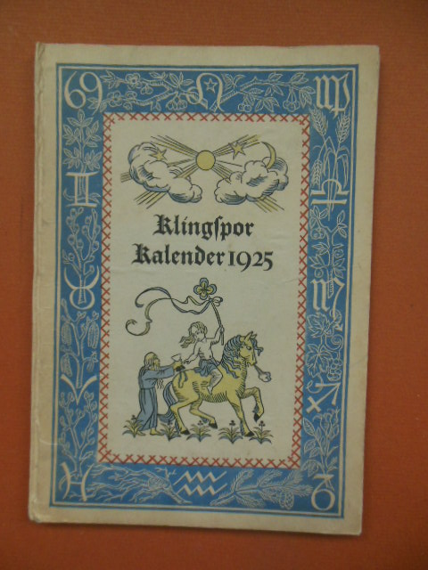 Image for Klingspor Kalender 1925 (Beautiful art, German Language)