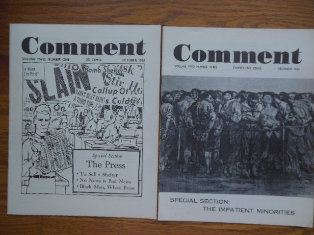 Image for Comment Magazine; A Monthly Journal of Informed Opinion (2 issues 1961)