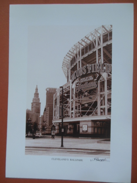 Image for Cleveland's Ballpark Jacob's Field (Print by J. Ptacek)