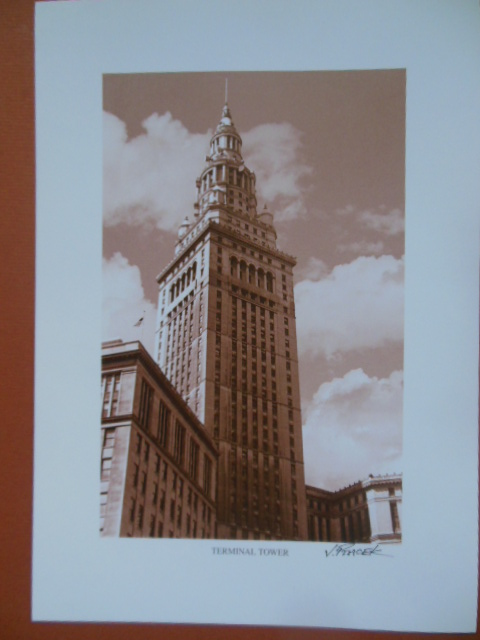 Image for Terminal Tower Cleveland, Ohio Print by J. Ptacek