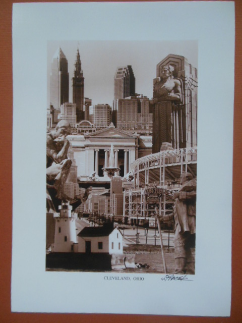 Image for Cleveland, Ohio Print J. Ptacek