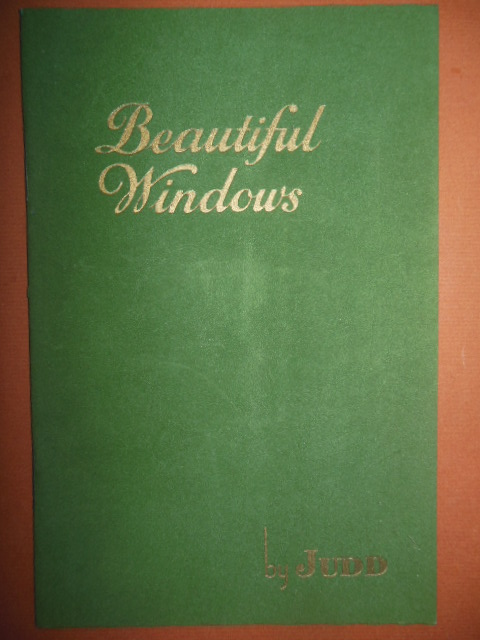 Image for Beautiful Windows By Judd (1930's)