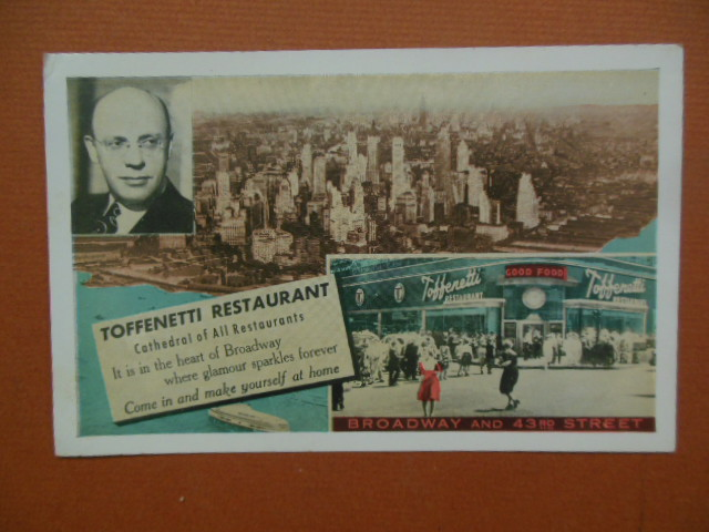 Image for Toffenetti Restaurant Times Square Postcard (1951)