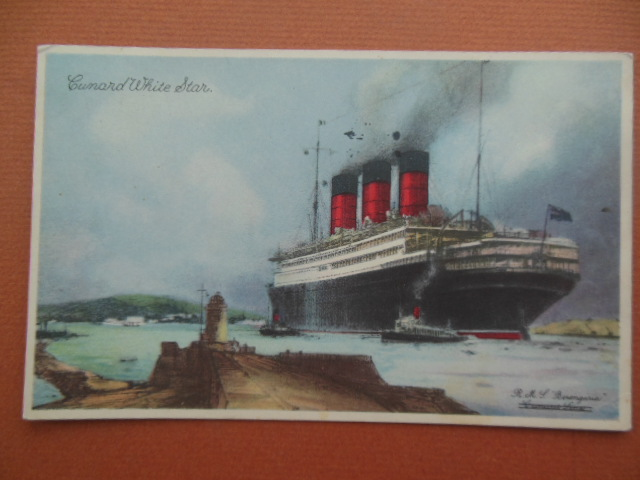 Image for R.M.L. Berengaria Postcard Cunard White Star Line (circa 1935)