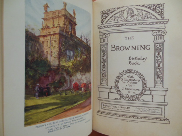 Image for The Browning Birthday Book (Tuck's c. 1910 Robert Browning)