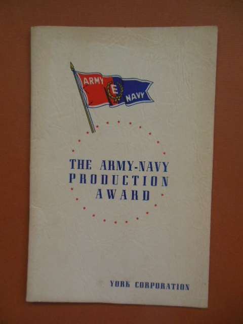 Image for Presentation Program Army-Navy Production Award York Corporation 1943