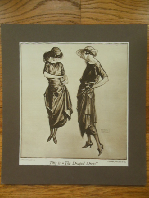 "Image for ""This Is the Draped Dress"" Matted Best & Co. Ad Woman's Home Companion 1922"