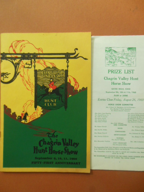 Image for The Chagrin Valley Hunt Horse Show 51st Anniversary September 8,9,10,11,1960