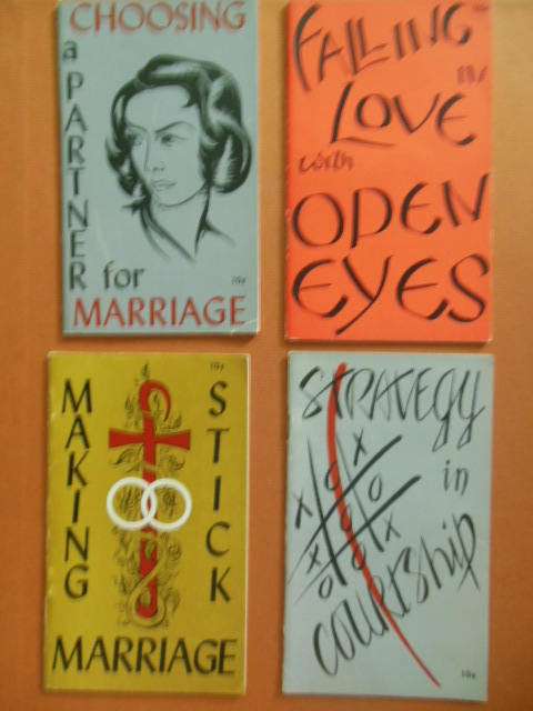 Image for Four Roman Catholic Marriage Pamphlets 1950's; Choosing A Partner for Marriage, Falling in Love with Open Eyes, Strategy in Courtship and Making Marriage Stick