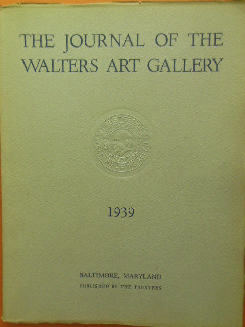 Image for The Journal of the Walters Art Gallery 1939