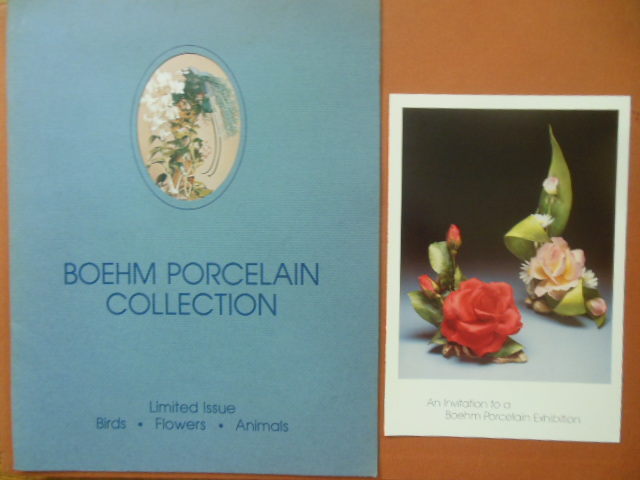 Image for Boehm Porcelain Collection Limited Issue Birds, Flowers, Animals (Exhibit invitation laid-in)