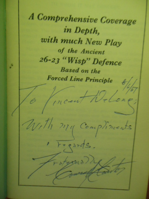 "Image for A Comprehensive Coverage in Depth with Much New Play of the Ancient 26-23 ""Wisp"" Defence Based on the Forced Line Principle (Checkers) SIGNED"