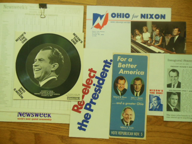 Image for Political Ephemera Richard Nixon 1968 Election (7 items)