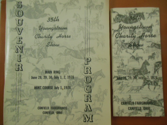 Image for Souvenir Program 35th Youngstown Charity Horse Show 1978  Canfield Fairgrounds (Includes Smaller Guide)