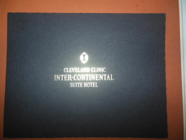 Image for Grand Opening Souvenir Cleveland Clinic Inter-Continental Suite Hotel Nov. 22, 1999