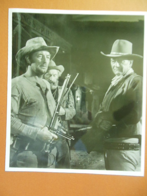 Image for Black and White Photo John Wayne, Robert Mitchum, Arthur Hunnicut (El Dorado, 1966)