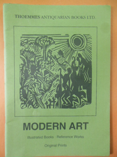 Image for Thoemmes Antiquarian Books LTD. Catalogue 48: Modern Art; Illustrated Books, Reference Works, Original Prints (England 1990)_