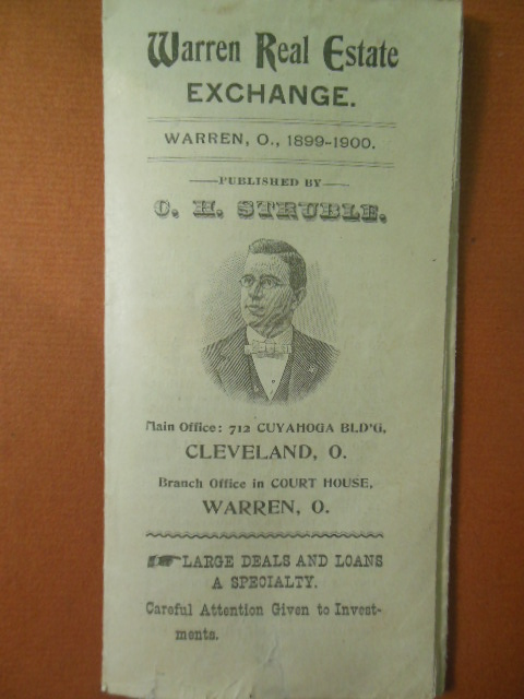 Image for Warren Real Estate Exchange  Warren, Ohio, Cleveland,Ohio 1899-1900 C.H. Struble (Advertising pamphlet)