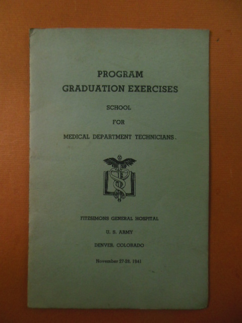 Image for Graduation Program School for Department Technicians Fitzsimons Army Hospital Denver, Colorado Nov. 27-28, 1941