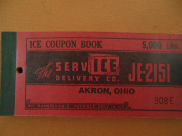 Image for Ice Coupon Book The ServICE Delivery Co., Akron, Ohio (1920's)