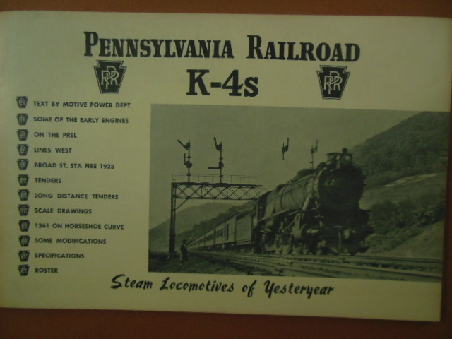 Image for Pennsylvania 4Ks Steam Locomotives of Yesteryear (1967)