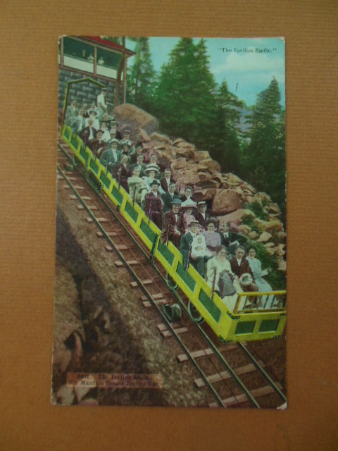 "Image for ""The Incline Smile"" Mt. Manitou Scenic Incline Car Color Postcard (Colorado)"