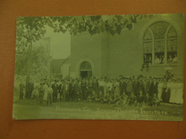 Image for Real Photo Postcard Pleasants County School-Teacher's Institute Class St. Mary's West Virginia 1909