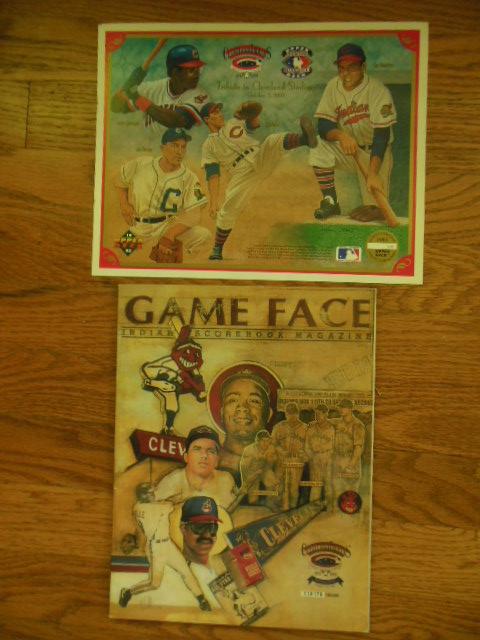 Image for Game Face Cleveland Indian Scorebook Magazine Commemorative Issue 1993; Tribute to Cleveland Stadium Official Souvenir Print October 2, 1993  (Cleveland Indians Baseball)