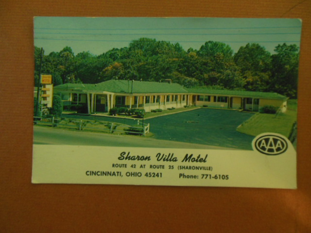 Image for Plastichrome Postcard Sharon Villa Motel Route 42 at Route 25 (Sharonville, Ohio)