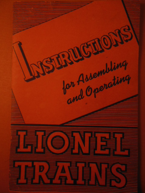 Image for Instructions for Assembling and Operating Lionel Trains (1941)