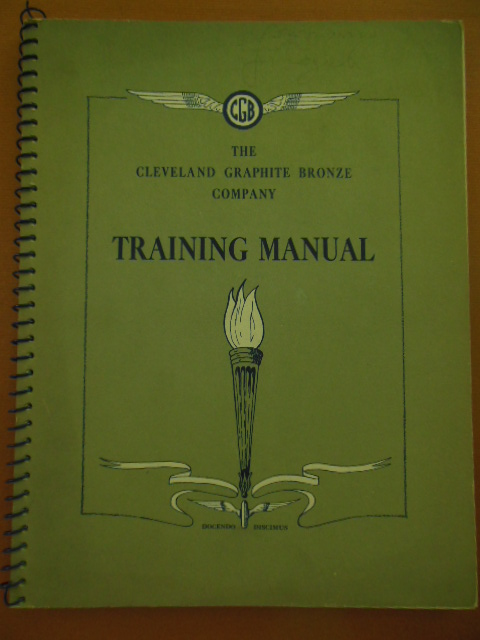 Image for The Cleveland Graphite Bronze Company Training Manual(mechanical drawing, reading blueprints) 1942