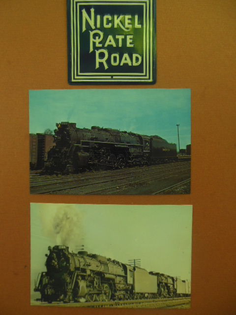 Image for Nickel Plate Railroad Miniature Metal Sign and Two Nickel Plate Postcards