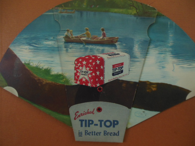 Image for Tip-Top Bread Novelty Advertising Fan (1950 Pittsburgh)